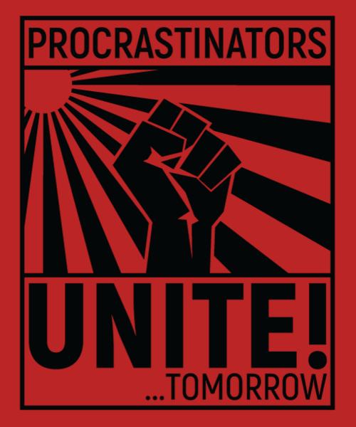 Risultati immagini per procrastinate unite